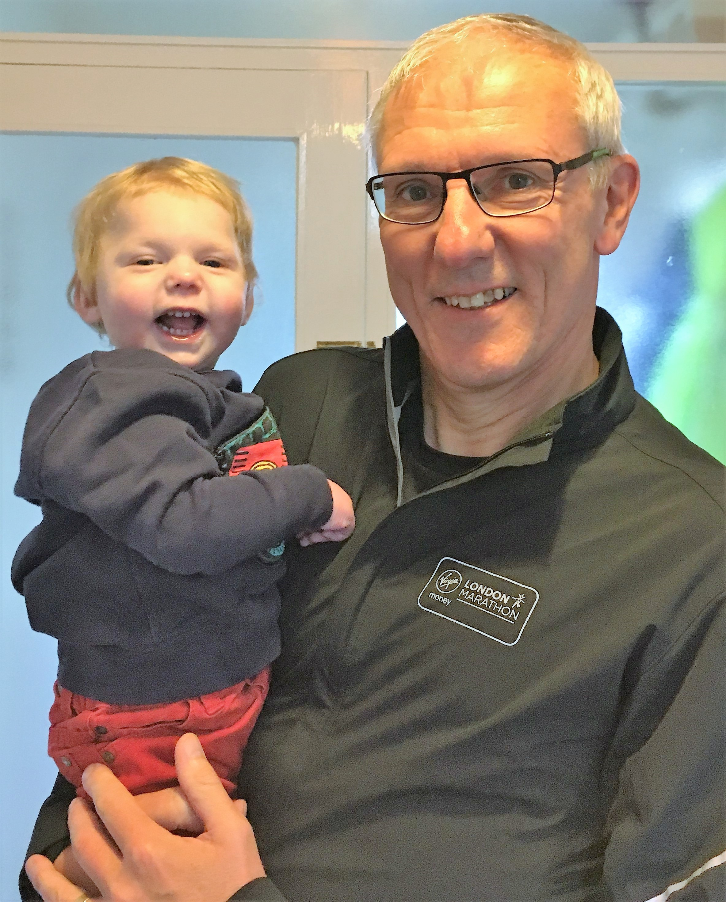 Moment London Marathon Vicar's prayers for grandson were